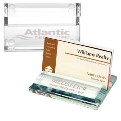 Atrium™ Glass Business Card Holder