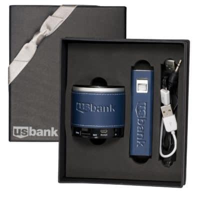 Tuscany™ Power Bank & Bluetooth Speaker Gift Set