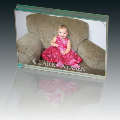 Atrium™ Glass Large Desk Photo Frame