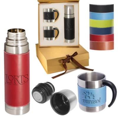 Tuscany™ Thermos & Coffee Cups Gift Set