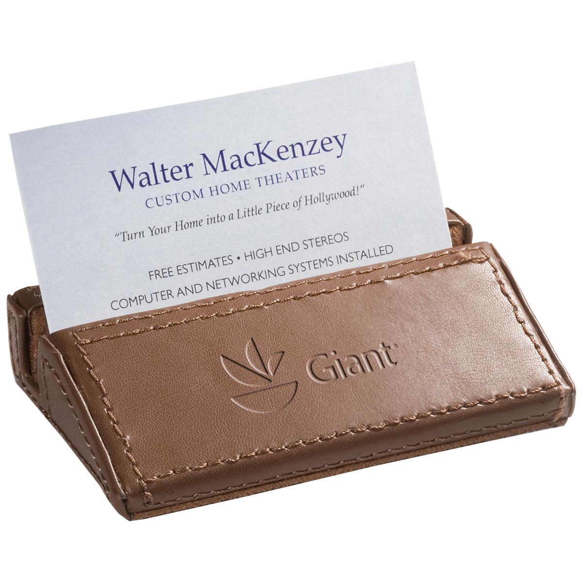 soho™ desk business card holder  leeman gifts