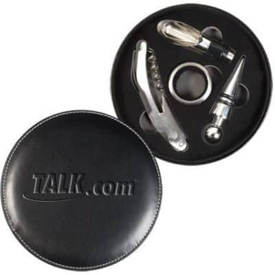 Executive Wine Accessory Set Case