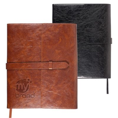 Sorrento™ Refillable Journal w/Business Card Organizer