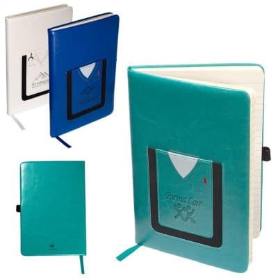 Leeman™ Medical-Themed Journal Book w/Cell Phone Pocket