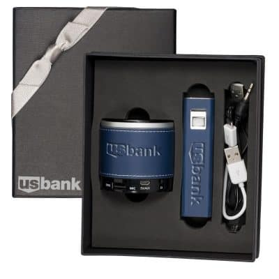Tuscany™ Power Bank & Wireless Speaker Gift Set