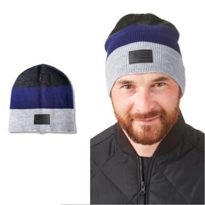 Leeman™ Stripe Knit Beanie