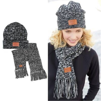 Prime Line® Leeman™ 2-in-1 Heathered Knit Winter Set